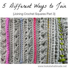 5 Different Ways To Join Crochet Squares