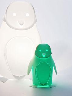 Lampe Mini Zoolight Pinguin warmes Licht für das Kinderzimmer