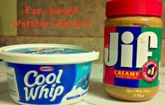 Super Easy Weight Watchers Friendly Peanut Butter and Cool Whip Dessert. This tastes like peanut butter pie. My favorite!!!!