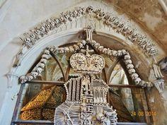 Prague Czech Republic. A church made of human bones