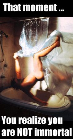 Nothing like falling in the shower.