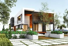 طراحی ویلای دکتر ابراهیم طلائی Modern Villa Design, House Plans, Mansions, House Styles, Home Decor, Decoration Home, House Plans Design, Room Decor, Villas