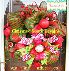 made for a mailbox.   follow us at www.facebook.com/charmedsouth mailbox wreath