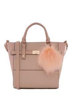 Primark - Nude Mini Pom Pom Tote Bag £9