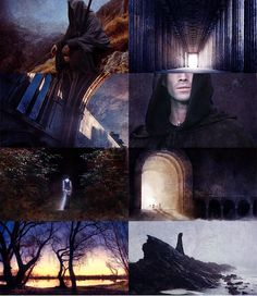 """""""Námo, the elder of the Fëanturi, dwells in Mandos, which is westward in Valinor. He is the keeper of the Houses of the Dead, and the summoner of the spirits of the slain. He forgets nothing; and he knows all things that shall be, save only those that lie still in the freedom of Ilúvatar. He is the Doomsman of the Valar; but he pronounces his dooms and his Judgements only at the bidding of Manwë."""""""