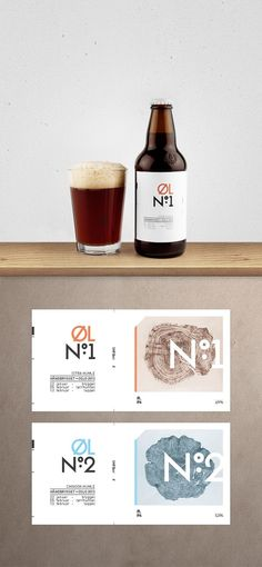 Cardboard Packaging - These rustic cardboard packaging designs are here to showcase how creative branding techniques can sincerely make a difference when it comes to sta. Beer Packaging, Beverage Packaging, Cool Packaging, Brand Packaging, Branding, Craft Beer Labels, Food Graphic Design, Design Design, Beer Label Design