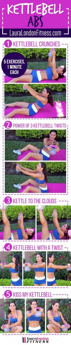 15 Minute toning Ab Kettlebell workout!