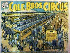 Cole Bros. Trains    Cole Bros. Circus   Circus World Museum, Baraboo, Wisconsin