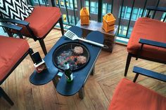 DIY Patio Grill Table Made from Skateboard Decks  Handmade America