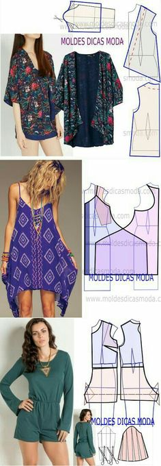 trendy sewing clothes women patterns how to make Sewing Clothes Women, Dress Clothes For Women, How To Make Clothes, Diy Clothing, Clothing Patterns, Dress Patterns, Fashion Sewing, Diy Fashion, Ideias Fashion