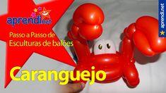 82  Aprendi.net: Esculturas de balões - Caranguejo