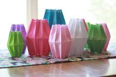Paper Bag Lanterns #craft by Landee See Landee Do