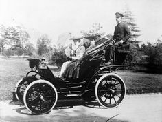 An electric car which could be rented complete with chauffeur for $180 a month, circa 1903