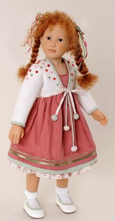 bolero - use of pom poms American Girl Clothes, Girl Doll Clothes, Real Doll, Vinyl Dolls, Vintage Gowns, Old Dolls, Child Doll, Hello Dolly, Beautiful Dolls