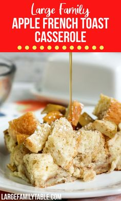Apple French Toast Casserole French Toast Casserole, Breakfast Casserole, Best Breakfast Recipes, Breakfast Ideas, Real Cooking, Cooking Tips, Apple French Toast, Large Family Meals, Yummy Food
