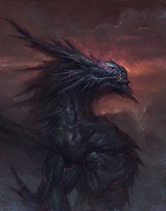 Fantasy Monster, Monster Art, Creature Concept Art, Creature Design, Fantasy Creatures, Mythical Creatures, Dnd Dragons, Alien Aesthetic, Legendary Dragons