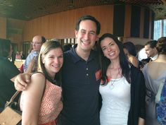 Sarah Dessen at the Penguin BEA party with Susane Colasanti and David Levithan