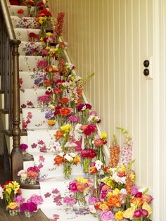 Imagine coming home to flowers covering the stairs. Soooo fairytale