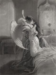 Una baccio… ( my guardian- angel and me…)   (I seriously doubt that my Guardian Angel looks this innocent.)