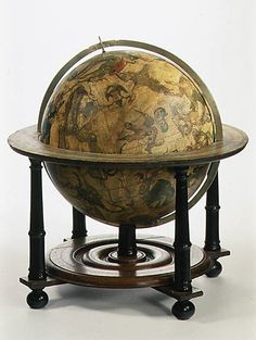 Willem Jansz Blaeu (1571–1638). Celestial globe, after 1621. Paper, brass, oak and stained, light-colored wood. The Metropolitan Museum of Art, New York. Purchase, Friends of European Sculpture and Decorative Arts Gifts, 1990 (1990.84). #CosmicWonders