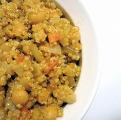 Chickpean/quinoa pilaf, from Veganomicon.