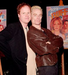 Love. This. Picture. James Marsters and Joss Whedon.