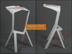Miura Bar Stool Price: $42.00	  Made of ABS material. Size:L47*W48*H81(cm). Seat height 46cm.Color can be various.