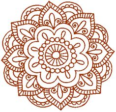 simple lotus mandala - Google Search