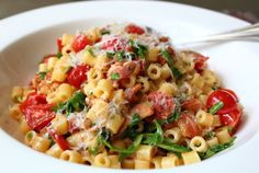 Chef John's BLT Pasta | Blow off the bread and turn a classic sandwich into the perfect pasta dish. It's made with lots of crisp bacon, baby arugula (for the L), and sweet, ripe cherry tomatoes (the T).