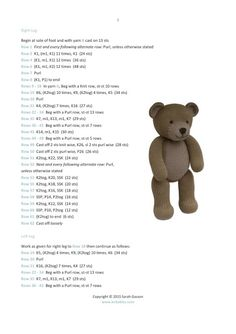 Knitting Bear, Teddy Bear Knitting Pattern, Baby Cardigan Knitting Pattern Free, Knit Headband Pattern, Easy Knitting, Loom Knitting, Knitting Toys, Boys Knitting Patterns Free, Little Cotton Rabbits
