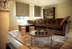 Private House 6 - New York  Motton dark brown rug by Mambo Unlimited Ideas