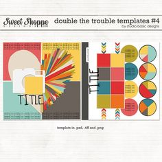 Digital Scrapbook Templates, Double The Trouble Templates #4 by Studio Basic