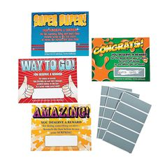 Scratch-Off Reward Cards - OrientalTrading.com