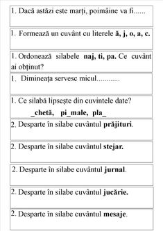 Litera j. Fișa 1 Letter Worksheets, Worksheets For Kids, Speech Language Therapy, Speech And Language, Educational Activities, Activities For Kids, Math For Kids, School Lessons, After School