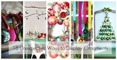 18 ways to display ornaments