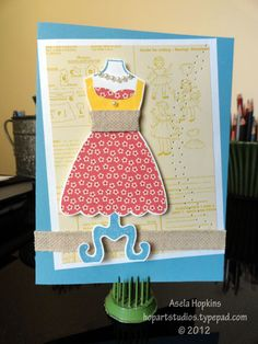 Card I made using All Dressed Up stamp set by Stampin' Up!