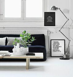 dco de salon avec canap en noir - Salon Avec Canape Noir