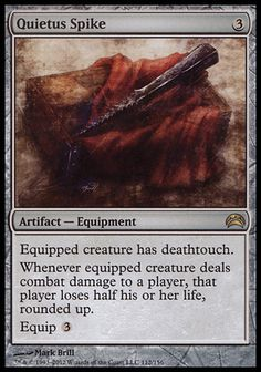 Quietus Spike from Shards of Alara - Magic the Gathering (#mtg) Card Reviews: http://www.lifesuccessfully.com/gaming-articles/magic-the-gathering-quietus-spike-from-shards-of-alara