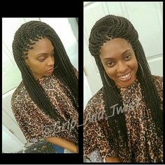 What are the box braids? We braid hair since the dawn of time, so we found traces of braided hairstyles dating back to Prehistory! After a dazzling comeback in the the fashion of braids (or rather mats) does not seem… Continue Reading → Black Girl Braids, Girls Braids, Black Ponytail Hairstyles, Braided Hairstyles, Faux Locs Bob, Protective Style Braids, Protective Styles, Senegalese Braids, Crochet Twist