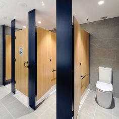 Cubicle – Floor Mounted Ceiling Fixed (FC) – Toilet Partitions Industries – Wet area partitions – Cubicles, Showers & Urinals Bathroom Stall, Office Bathroom, Bathroom Doors, Bathroom Toilets, Bathroom Interior, Modern Bathroom, Small Bathroom, Relaxing Bathroom, Handicap Bathroom