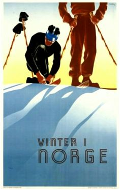Vinter i Norge 1938 SCHENK VINTER I NORGE lithograph in colours, 1938, printed by Norsk Lithografisk, Oslo, condition B+/A-; backed on linen 39 x 24½ (99 x 62cm.)