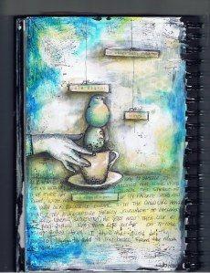 pam carriker's wonderful mixed media journaling, at http://pamcarriker.com/category/visual-journal/