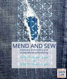 Learn stitch techniques for visible mending
