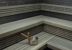 Saunapaketti Wicco Sauna Primus L-lauteella mm Finnish Sauna, Spa Rooms, Saunas, Do It Yourself Home, Finland, Relax, Stairs, Wood, Places