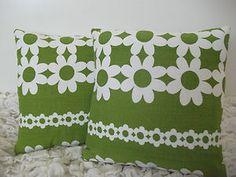 60's Heals era Scandinavian Vintage fabric cute cushions VW camper  beach hut Made by Jodi-jo Retro
