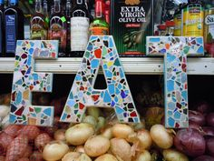 CUSTOM Mosaic Letters  Your Word and Colors by totallylegalpot, $120.00