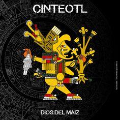 La mitología mexica o mitología azteca es una extensión del complejo cultural mexica. Antes de llegar los aztecas al valle del Anáhuac, ya existían antiguos cultos y diosas del Sol que ellos adoptaron en su afán de adquirir un rostro.[cita requerida] Al asimilarlos también cambiaron sus propios dioses, tratando de colocarlos al mismo nivel de los antiguos dioses del panteón nahua. Chicano Drawings, Chicano Art, Aztec Tattoo Designs, Aztec Designs, Aztec Religion, Age Of Mythology, Aztec Symbols, Ancient Aztecs, Aztec Culture