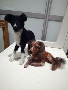 Kaverukset huovutettuina! Tein ekaa kertaa makaavan koiran. Lamb, Dogs, Animals, Animales, Animaux, Pet Dogs, Doggies, Animal, Animais