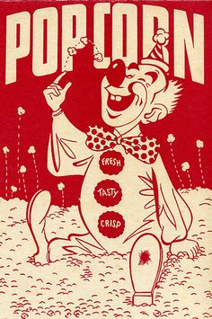 Almost Cute Clown put still Cute Vintage Popcorn Poster