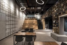 UFO Space co-working space by Mov.in, Canoas – Brazil Space Interiors, Hotel Interiors, Office Interiors, Corporate Office Design, Coworking Space, Tiered Seating, Startup Office, Workspace Design, Retail Design